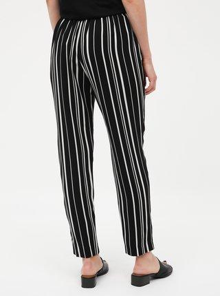 Čierne dámske pruhované nohavice M&Co Petite
