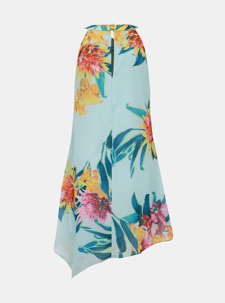 Svetlomodré kvetované asymetrické šaty Dorothy Perkins