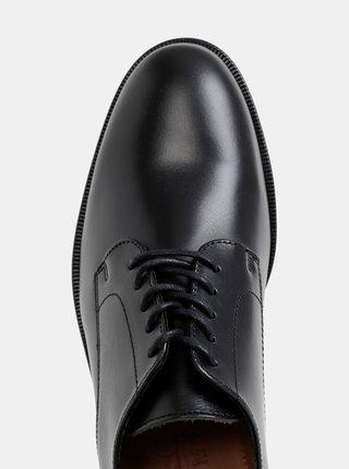 Čierne kožené poltopánky Selected Homme Louis