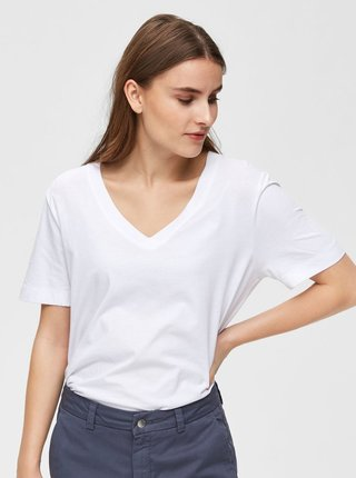 Biele basic tričko Selected Femme Standard