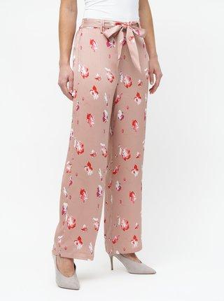 Starorůžové květované kalhoty ONLY Giza
