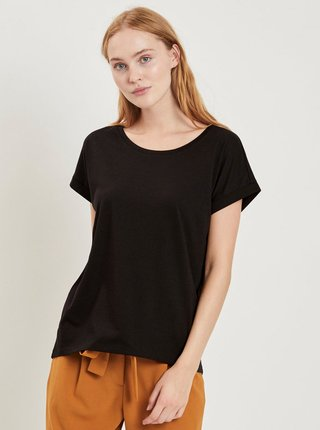 Čierne basic tričko VILA Dreamers