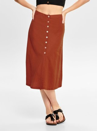 Hnedá sukňa ONLY Jany