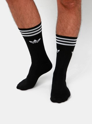 Sada tří párů pánských černých ponožek adidas Originals Crew