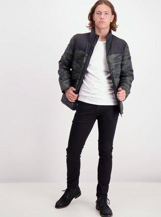 Čierno-zelená vzorovaná zimná bunda Shine Original