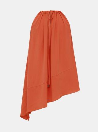 Oranžový asymetrický top M&Co Hem