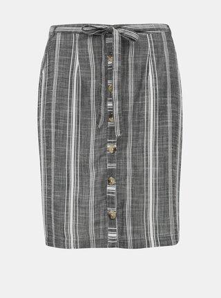 Šedá pruhovaná sukňa M&Co Petite Thru