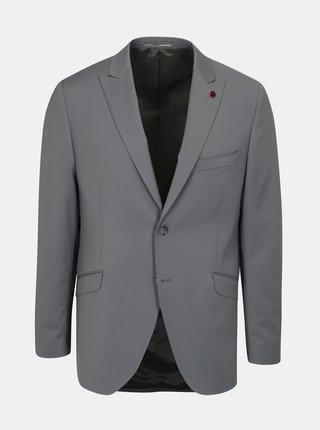 Sivé oblekové vlnené sako Good Son