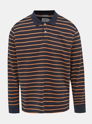 Tmavomodré pánske pruhované tričko Pepe Jeans Pelayo