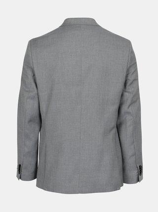 Sivé oblekové tailored fit sako Burton Menswear London