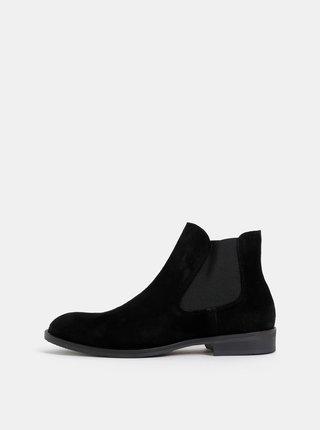 Černé semišové chelsea boty Selected Homme Louis