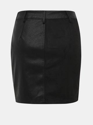 Černá koženková pouzdrová sukně Noisy May
