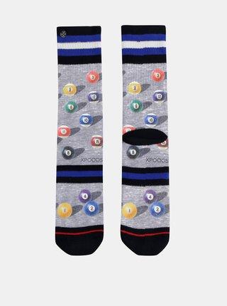 Šedé pánske vzorované ponožky XPOOOS