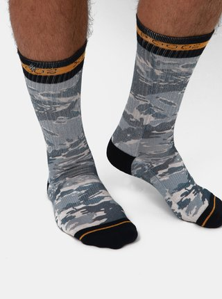 Modré pánske vzorované ponožky XPOOOS