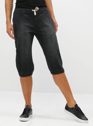 Tmavošedé dámske rifľové 3/4 nohavice LOAP Decilla