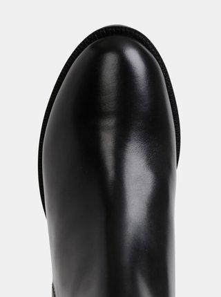Čierne dámske kožené členkové topánky s krokodýlím vzorom Geox Bettanie