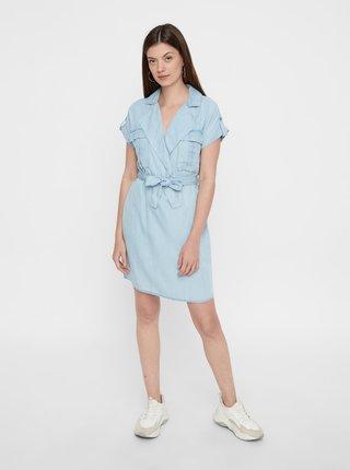 Světle modré košilové šaty Noisy May Vera