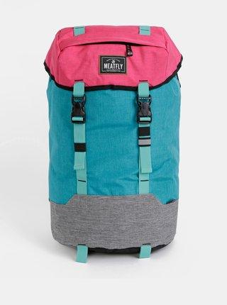 Růžovo-tyrkysový dámský batoh Meatfly Pioneer 4 26 l