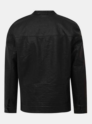 Černá koženková bunda ONLY & SONS Sal