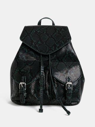Černo-zelený batoh s hadím vzorem Pieces Irina