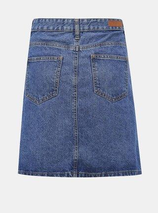 Modrá džínová sukně s rozparkem Jacqueline de Yong Piper