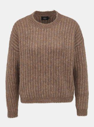 Hnědý svetr ONLY Chunky