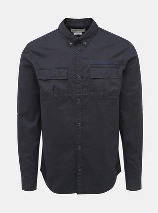 Tmavě modrá slim fit košile Jack & Jones Porter
