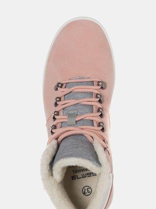 Růžové dámské zimní kotníkové boty SAM 73