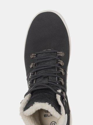 Černé dámské zimní kotníkové boty SAM 73