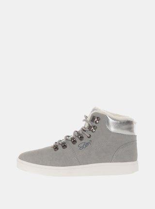 Šedé dámske zimné členkové topánky SAM 73