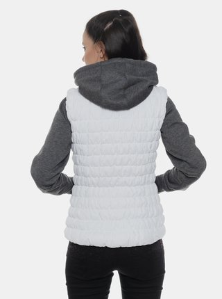 Bílá dámská prošívaná voděodolná vesta SAM 73