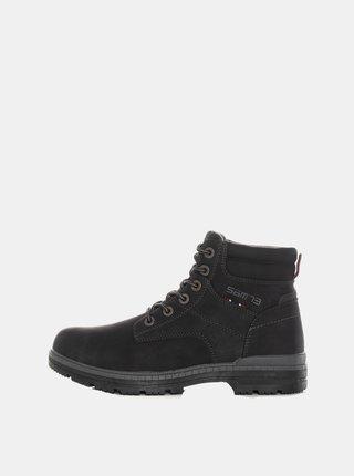 Čierne pánske členkové topánky SAM 73