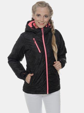 Černá dámská vzorovaná nepromokavá zimní bunda SAM 73