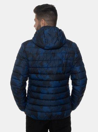 Tmavě modrá pánská vzorovaná zimní bunda SAM 73