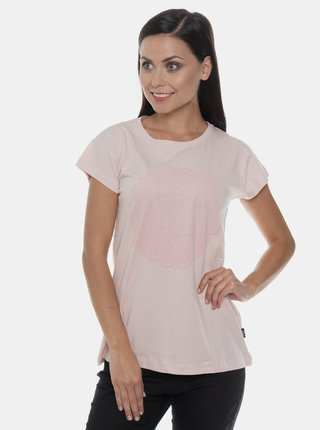 Rúžové dámske tričko s potlačou SAM 73