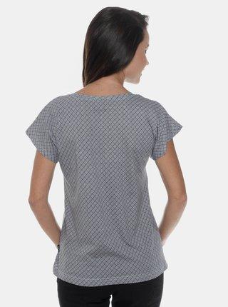 Šedé dámske vzorované tričko SAM 73