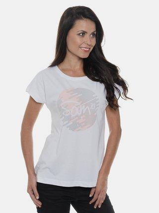 Biele dámske tričko s potlačou SAM 73