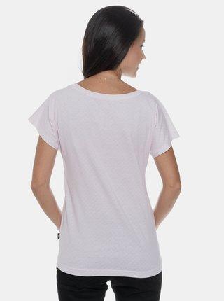 Svetloružové dámske vzorované tričko SAM 73