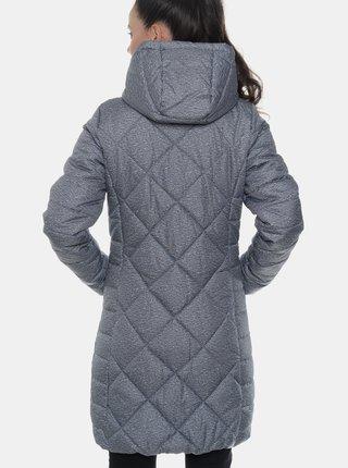 Modrý dámsky vodeodolný prešívaný zimný kabát SAM 73