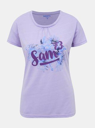 Fialové dámske tričko s potlačou SAM 73