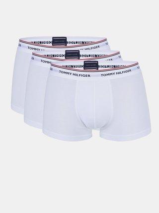 Sada tří bokových boxerek v bílé barvě Tommy Hilfiger