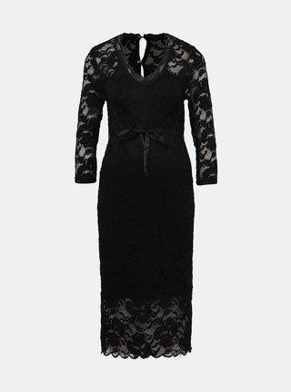 Čierne krajkové tehotenské šaty Mama.licious Minava