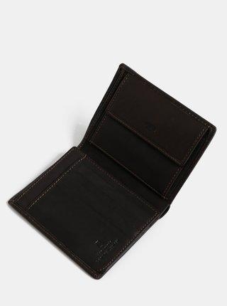 Tmavohnedá pánska kožená peňaženka Tom Tailor Lary