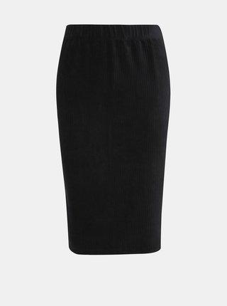 Čierna menčestrová sukňa VERO MODA Amanda