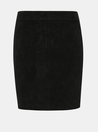 Černá semišová pouzdrová sukně Noisy May Wren