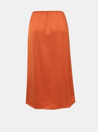 Oranžová midi sukně ONLY Mania