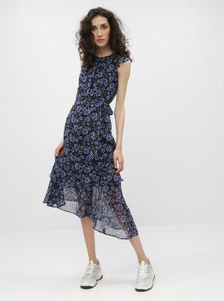 Černo-modré květované maxišaty Dorothy Perkins