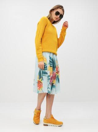 Světle modré květované midišaty Dorothy Perkins