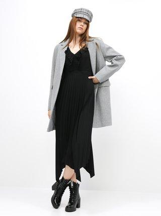Čierne šaty s plisovanou sukňou Dorothy Perkins