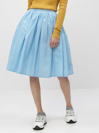 Světle modrá puntíkovaná kolová sukně MONLEMON